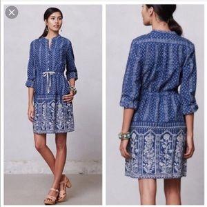 Meadow Rue blue Anila shirt dress
